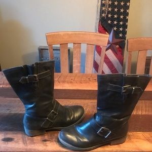 BareTrap Leather Boots, Size 8.5M